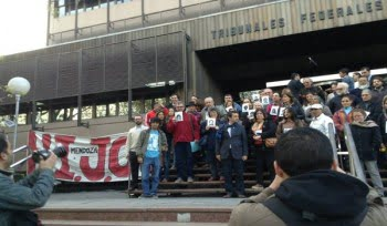 Organismos de Derechos Humanos se movilizaron en Tribunales para exigir que Otilio Romano siga en la cárcel