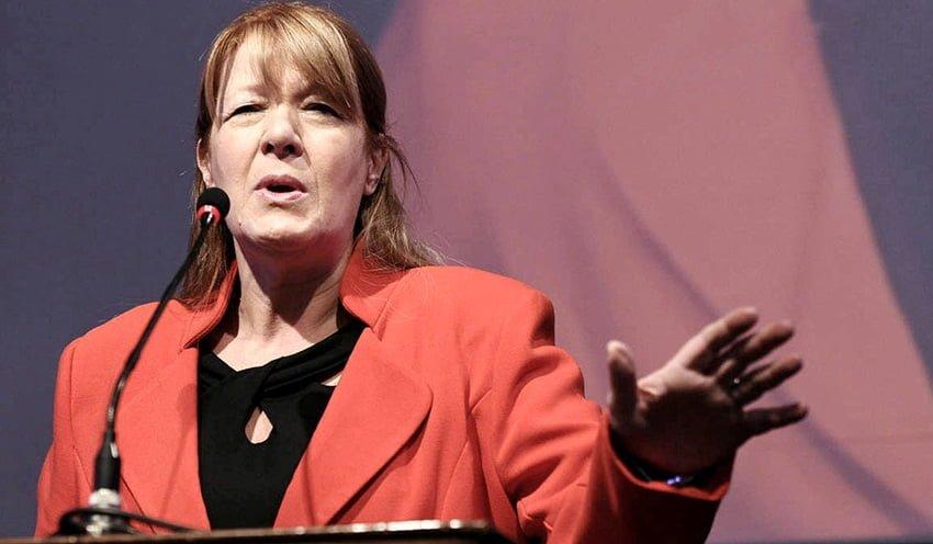 Margarita Stolbizer quedó como presidenciable de lo que quedó en UNEN tras la renuncia de Hermes Binner a la postulación.