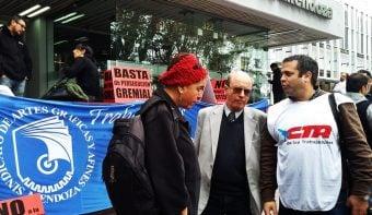 Con fuerte apoyo intersindical declararon los trabajadores del diario Uno perseguidos judicialmente por Vila y Manzano