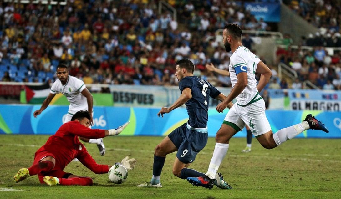 Caleri definió con mucha suerte el partido contra Argelia.